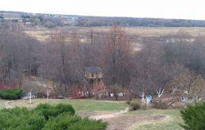 Домик на дереве на даче