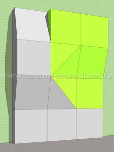 Модульная скалолазная стенка