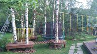 Детский веревочный парк на даче