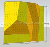 Модель детского скалодрома