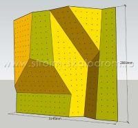 3D модель скалолазной стенки