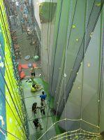 Строительство скалодрома в фитнес-центре завершено