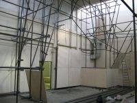 Монтаж щитов при строительстве скалодрома