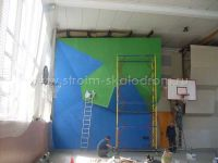 Строительство скалодрома в спортзале МФТИ